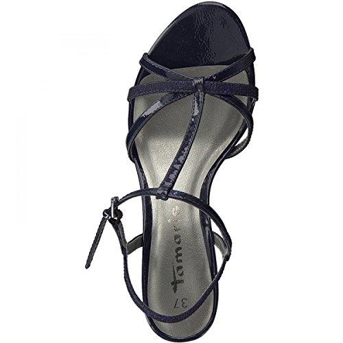 Tamaris 28329, Salomés Femme Bleu (Navy Pat/glam)