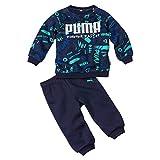 PUMA Minicats AOP Crew Jogger FL Chándal, Unisex niños