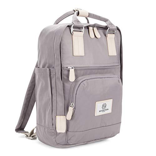 SEVENTEEN LONDON - Moderner, einfacher und Unisex \'Hackney\' Rucksack in lila mit einem klassischen Design im Skandi-Stil - perfekt für 13-Zoll-Laptops