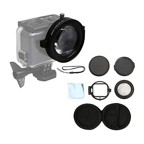 Meijunter Makro 16X Vergrößerung - 58 MM Kreisförmig Close Up Lupe Linse Filter Kits für GoPro Hero 7 / Hero 6 / Hero 5 Kamera Wasserdicht Hülle