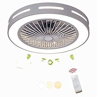 DOCJX Modern Creative Living Room Bedroom Nursery Office Nursery Lighting Decorative Fan Light LED Fan Ceiling Light with Remote Control Ceiling Fan with Lighting Energy Saving Fan Light