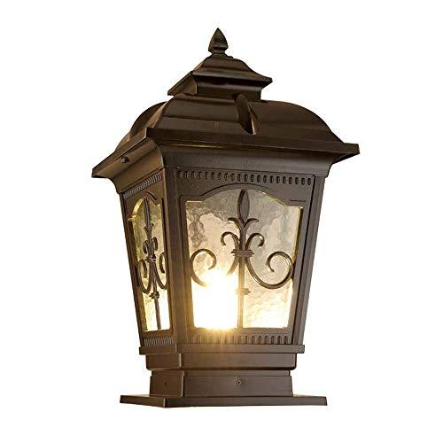 Hai Ying ♪ Säulenlicht Große Außen E27 Licht Lampe Post Licht Tor Licht Dekoration Straßenlaterne Rasen Villa Lampe wasserdichte Outdoor Gartenlampe (Größe: Höhe 35 cm) ♪ (Outdoor Post Licht-lampe)