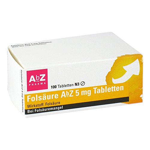 Folsäure Abz 5 mg Tablett 100 stk