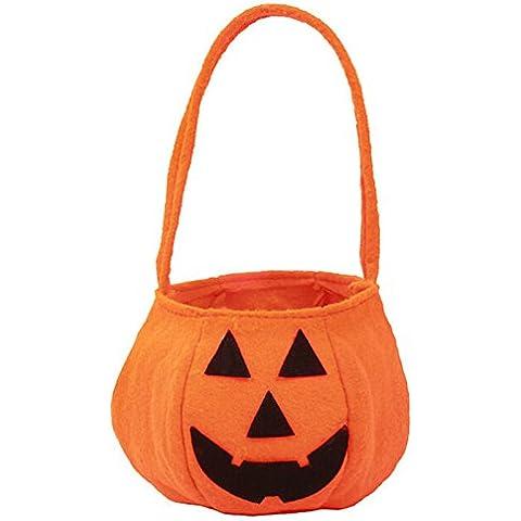 YOKIRIN Decorativos de Halloween, Halloween Bolso de Calabaza para caramelos