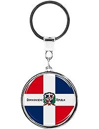 metALUm Llavero de metal / Bandera la República Dominicana / 6610018S
