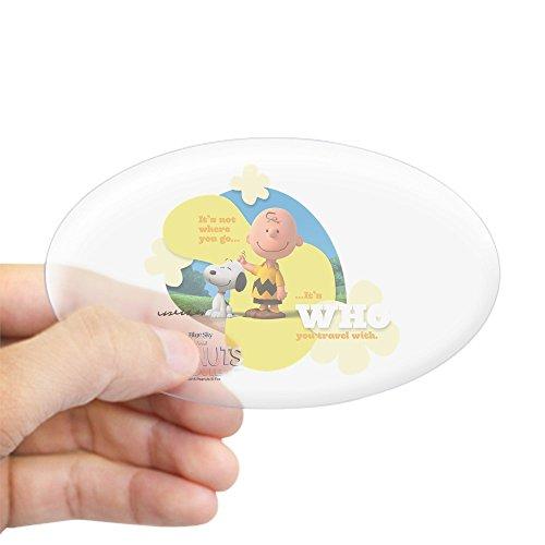 CafePress Travel Aufkleber Snoopy und Charlie Brown Large - 4.5x7.5 farblos