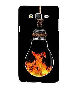 printtech Fire In Bulb Back Case Cover for Samsung Galaxy On7