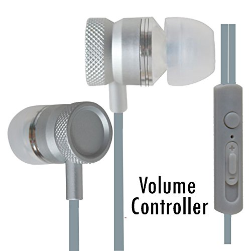 All-Metal Volume Control Bass Earphones Compatible For Micromax Joy F145 -Silver  available at amazon for Rs.340