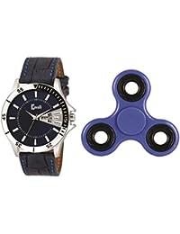 Cavalli Analogue Blue Dial Men's & Boy's Watch With Fidget Spinner-Cwfs896
