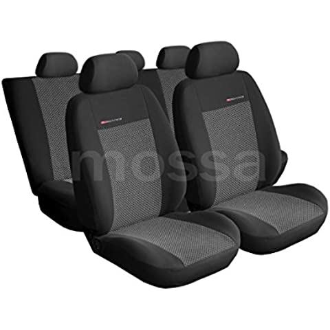 (UNE-2) Universale Set coprisedili auto compatibile con VW VOLKSWAGEN (BORA, CADDY, DERBY, FOX, GOLF, JETTA, LUPO, NEW BEETLE, PASSAT, POLO, SANTANA, SIROCCO, TIGUAN, VENTO) - Vw Fox