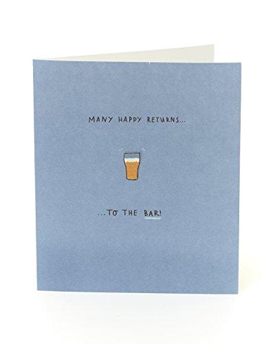 Funny Humorvolle Bier Geburtstag Karte–Many Happy Returns