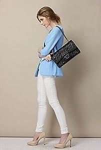 Macton® 2,55Classic camelia Moda Bolso Cadena de hombro de Lady mc-2036