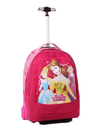 Seven Disney Princess 2B9001605-310 Zaino con Spallacci a Scomparsa, 30 litri, Poliestere, Rosa