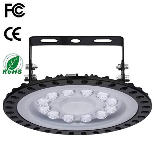 50W LED UFO Industrielampe Hallenleuchte 6000-6500K 5000LM Industrial Kronleuchter Hallenstrahler Werkstattbeleuchtung Abstrahlwinkel 120°