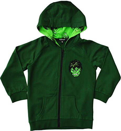 laylawson Jungen der Hulk 100% Baumwolle Hoody Hoodie Kapuzenpullover[4-5 Jahre][Gr?n] (Kinder 4 Hoodie)