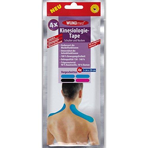 Kinesio Tape Schulter (Kinesiologie-Tape Schulter und Nacken Kinesio Tape Sport Sporttape 4 Stück)