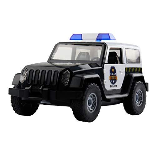 CUEYU Auto Modell Plüsch Bildung Squishy Spielzeug Aufblasbares Spielzeug im Freien Spielzeug,Police Car Bauen Sie Sich Ihren DIY Rennwagen Bausatz als Spielzeug Rennwagen Auf