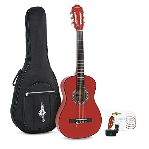Pack de Guitarra Española Junior de 1/2 de Gear4music Rojo