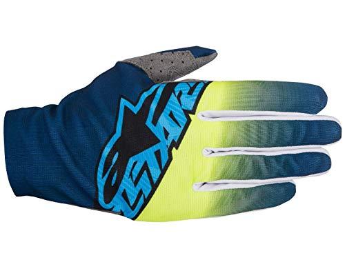 Alpinestars guanti mx 2017 dune dark blu-fluorescent-cyan (s, blu)