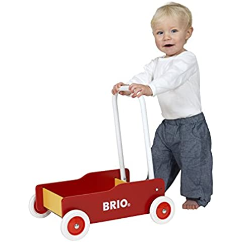 Brio - Andador primeros pasos, color rojo y amarillo (31350)