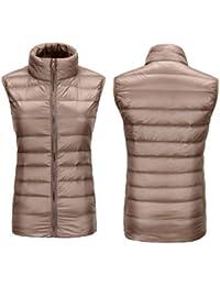 Otoño invierno transpirable antimicrobiano chaquetas de down chaleco ligero la recta cuello breve párrafo abrigo cremallera mantener caliente mujer