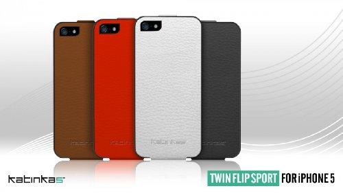 Katinkas Twin Flip Sport Etui pour Apple iPhone 5 Blanc Blanc