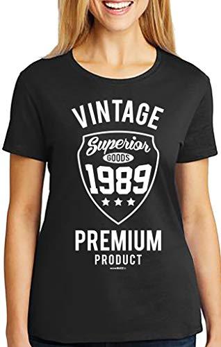 30 Geburtstag Frauen Vintage 1989 T-Shirt