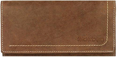 'Nelly' große Geldbörse aus geöltem Hunterleder, Farbe:Chestnut-Brown -