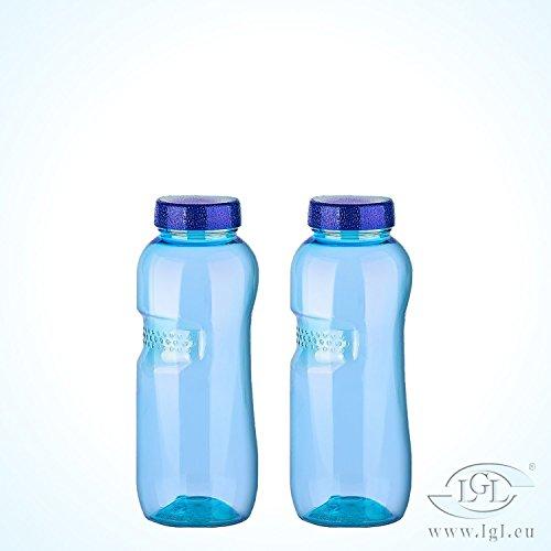 2 x 0,5 Liter Trinkflasche aus Tritan / Wasserflasche / BPA-frei / LGL