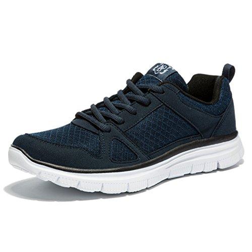 NDB Herren Leichtes Sneaker Sportschuhe Laufschuhe (50 EU, Dunkelblau (Dark Blue)) (Größe 15 Schuh)