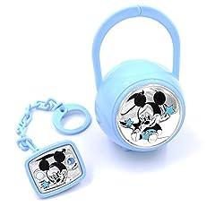 Idea Regalo - Valenti&Co_Set box e spilla portaciuccio_Argento_Mickey Mouse_Disney