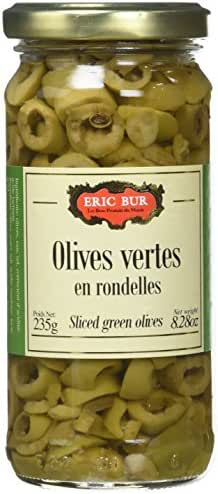 ERIC BUR Olives Vertes en Rondelles 235 g