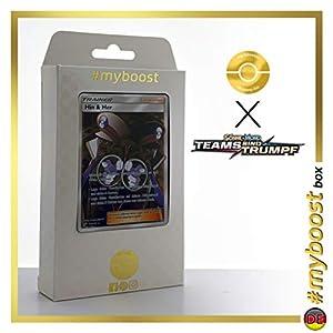Hin & Her (Fero y Caril) 176/181 Entrenadore Full Art - #myboost X Sonne & Mond 9 Teams Sind Trumpf - Box de 10 Cartas Pokémon Alemán