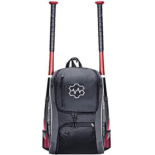 Instag Baseball-Ausrüstungstaschen - Rucksack für Baseball-Softball-T-Ball-Ausrüstung - Baseballschlägerpackung für Jugendliche - Erwachsene für 2 Kinder - Helmhandschuh -