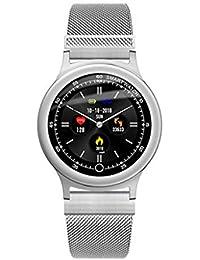 smart watch Tracker Fitness, Impermeabile con Monitor della Frequenza Cardiaca, Monitor del Sonno, Cronometro con Orologio da Polso con Contacalorie per Uomini Donne Adulte