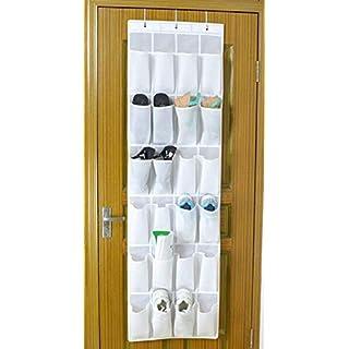 UmeBiz Hängeorganizer Aufbewahrungstasche Ordnungssystem Schuhaufbewahrung Für Tür mit 24 Tasche,weiß