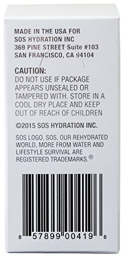 SOS Rehydrate Coconut Electrolyte Powder, Easy Open Packets, Supplement Drink Mix 20 sachets