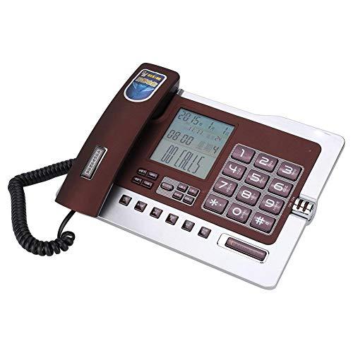 Tangxi Schnurgebundenes Telefon G026, Telefon für Privatgebrauch/Büro,Festnetztelefon mit Freisprecheinrichtung, Anruferkennung, Kurzwahl, Nummernspeicherfunktion(rot) Paging-adapter
