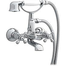 Enki Traditional Cross Handle rubinetti per vasca