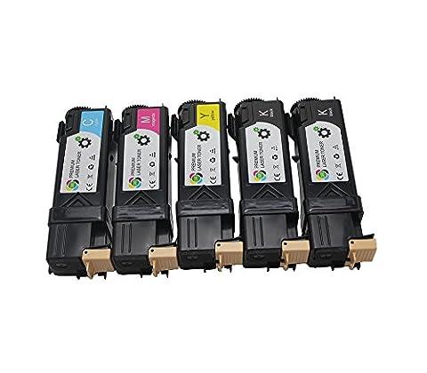 Lot de 5 cartouches compatibles de Toner EPSON Aculaser C2900N/CX29NF, cartouches noires, cyan, magenta et jaune, 3000 pages Noir / 2500 pages couleurs