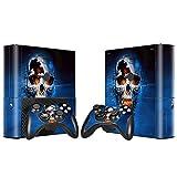 Skin Sticker für Xbox 360 E Konsole und 2 Fernbedienungen aus Vinyl Totenkopf