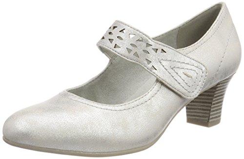 Softline Damen 24462 Pumps, Silber (White/Silver), 39 EU