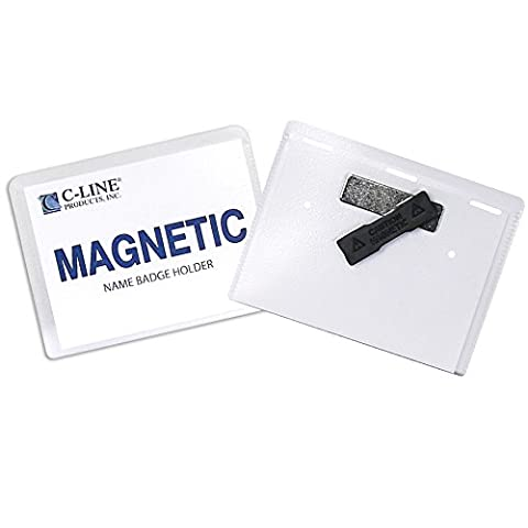 C-Line Magnetic Style Name Badge Kit, 4 x 3 Inches,
