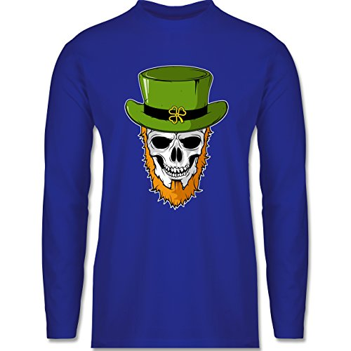 Festival - St. Patricks Day - Totenkopf - Longsleeve / langärmeliges T-Shirt für Herren Royalblau