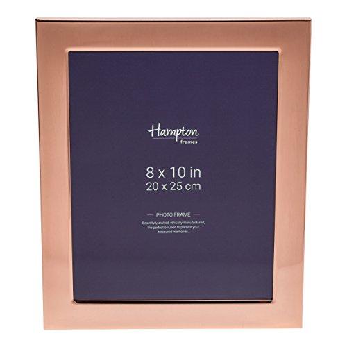 Hampton Optik (wa7480cp Woburn (Kupfer Teller 20,3x 25,4cm (20x 25cm) Blende Foto Rahmen mit breit 1in/2,4Profil und Rückseite in Samt-Optik und Strebe geeignet für Gravur)