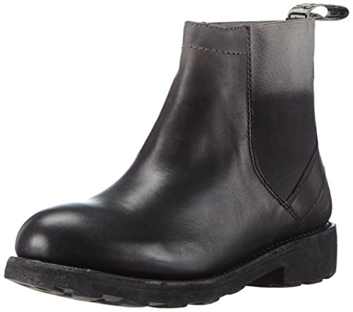 Bikkembergs Damen 990930 Kurzschaft Stiefel, schwarz/grau, 38 EU