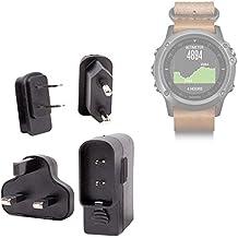 DURAGADGET Kit De Adaptadores Con Cargador Para Smartwatch Garmin Fénix 3 / HR / Leather / Nylon / Titanium - ¡Para Que Pueda Conectar Su Dispositivo Alrededor Del Mundo!