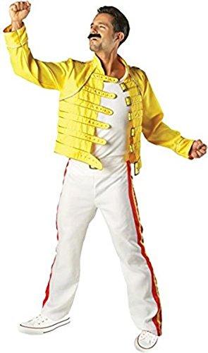 Freddie Mercury Kostüm Karneval Fasching Mottoparty Verkleidung Herren Extra (Fancy Freddie Dress Mercury Kostüm)