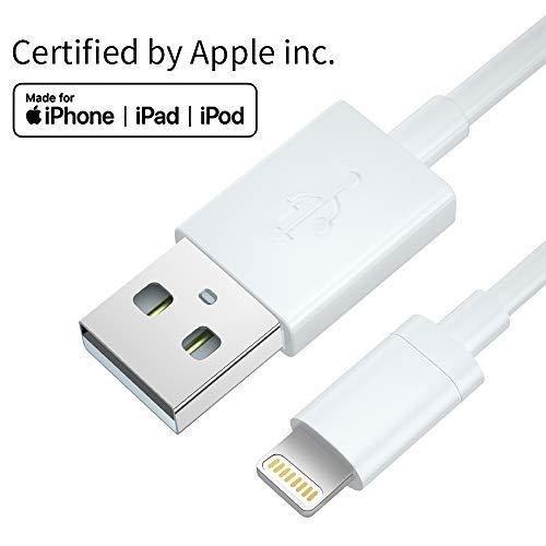Ladekabel Lightning Kabel [Apple MFi Zertifiziert], Schneller Laden Premium Qualität Lightning Datenkabel 100% Kompatibel mit iPhone X/XR/XS Max 8 Plus/7 Plus iPhone 6/7/8 iPad Air (1M, weiß)