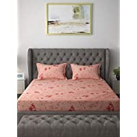 Raymond Home Exclusive Collection Flat Double Bedsheet Set, Pink, 220 x 240 cm, 004833-Bf02